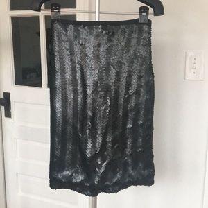 J.Crew Black Sequin Skirt